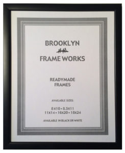 Ready made wood frame with opaque black finish