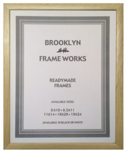 Ready made natural wood frame with clear finish